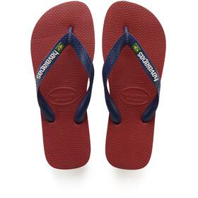 havaianas Brasil Logo - Sandales Homme - rouge